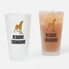 Redbone Coonhound Drinking Glass