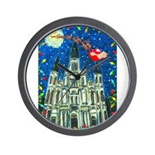 New Orleans Cheristmas Wall Clock