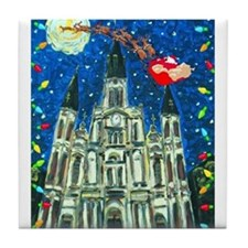 New Orleans Cheristmas Tile Coaster