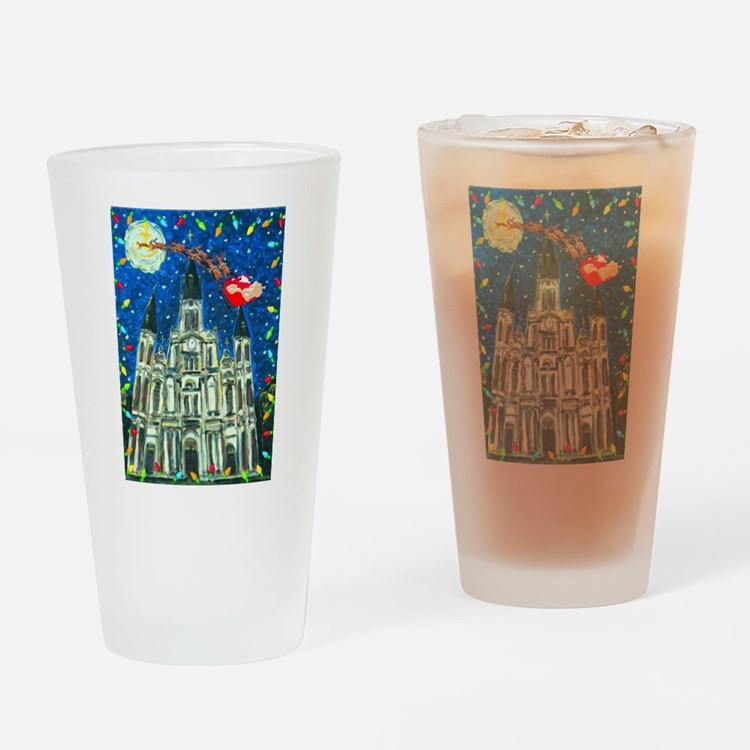 New Orleans Cheristmas Drinking Glass