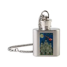 New Orleans Cheristmas Flask Necklace