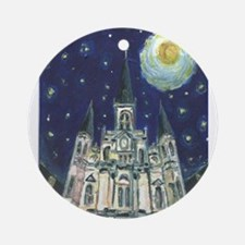 New Orleans Church Ornament (Round)