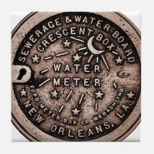 New orleans Water Meter Lid Tile Coaster