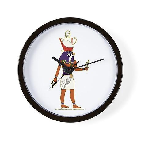 Horus Hieroglyph Wall Clock