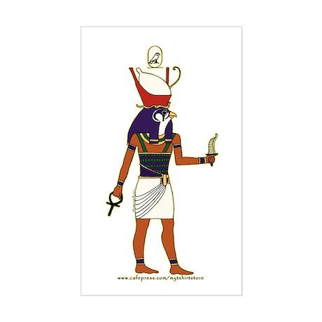 Horus Hieroglyph Rectangle Sticker
