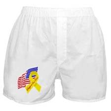 Support Our Troops US Flag Boxer Shorts