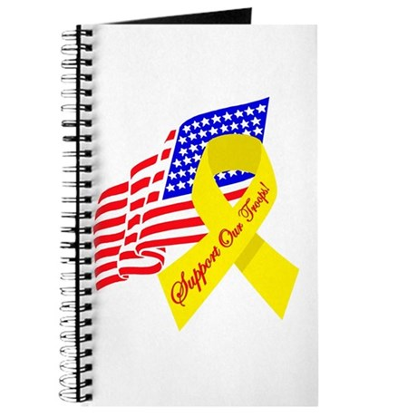 Support Our Troops US Flag Journal