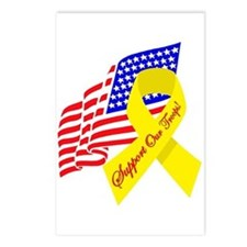 Support Our Troops US Flag Postcards (Package of 8