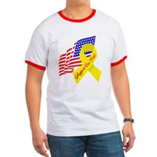 Support Our Troops US Flag T