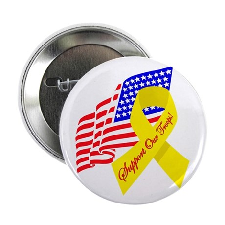 Support Our Troops US Flag Button