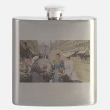 French Flower Cart Flask