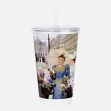 French Flower Cart Acrylic Double-wall Tumbler