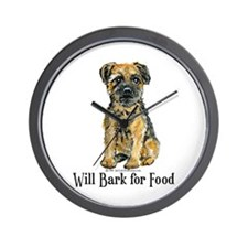 Border Terrier Bark Wall Clock