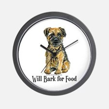Border Terrier Bark Wall Clock