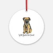 Border Terrier Bark Ornament (Round)