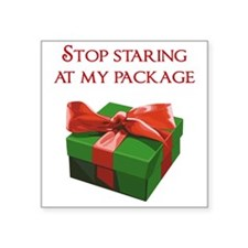 Stop Staring at my Package Christmas Present Stick