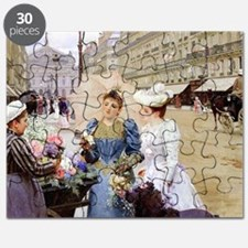 French Flower Cart Puzzle