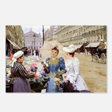 French Flower Cart Postcards (Package of 8)