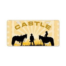 Castle Beckett Aluminum License Plate