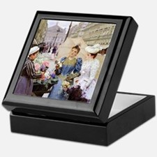 French Flower Cart Keepsake Box