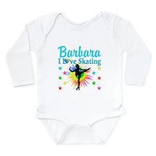 SKATING PRINCESS Long Sleeve Infant Bodysuit