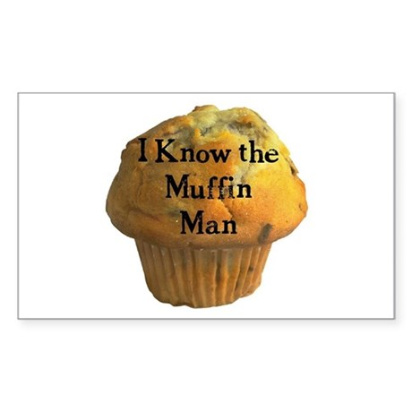 Muffin Man Sticker (Rect.)