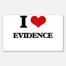 I love Evidence Decal