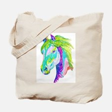 Rainbow Pony Tote Bag
