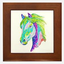 Rainbow Pony Framed Tile
