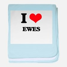 I love Ewes baby blanket