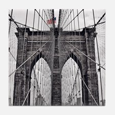 Cute Brooklyn bridge Tile Coaster