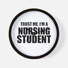 Trust Me, I'm A Nursing Student Wall Clock