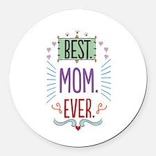Cute Mom Round Car Magnet
