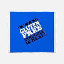 Gluten Free Struggle Tees Throw Blanket