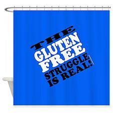 Gluten Free Struggle Tees Shower Curtain