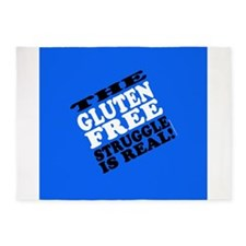 Gluten Free Struggle Tees 5'x7'Area Rug