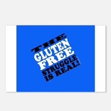 Gluten Free Struggle Tees Postcards (Package of 8)