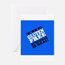 Gluten Free Struggle Tees Greeting Cards