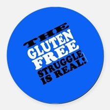 Gluten Free Struggle Tees Round Car Magnet