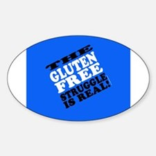 Gluten Free Struggle Tees Decal