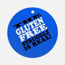 Gluten Free Struggle Tees Ornament (Round)