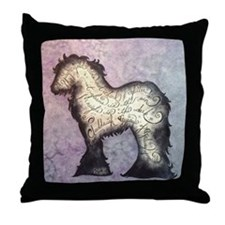 Purple Gypsy Proverb Throw Pillow
