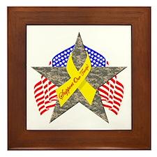 Support Our Troops Star Framed Tile