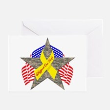 Support Our Troops Star Greeting Cards (Package of