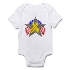 Support Our Troops Star Infant Bodysuit