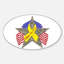 Support Our Troops Star Oval Decal