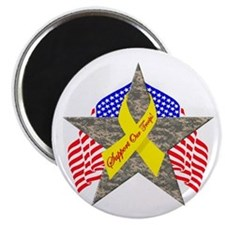 """Support Our Troops Star 2.25"""" Magnet (100 pack)"""