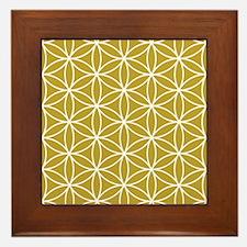 Flower Of Life Lg Ptn Wg Framed Tile