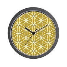 Flower of Life Lg Ptn WG Wall Clock