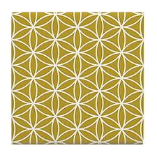 Flower Of Life Lg Ptn Wg Tile Coaster